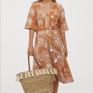 H&M Linen Blend Kaftan Dress